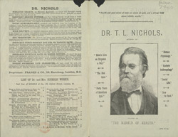 Advert For Dr. T. L. Nichols Health Advice